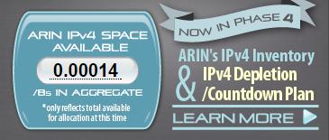 ARIN's IPv4 depletion status as of 2015-09-23T06:03+0000