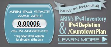 ARIN's IPv4 depletion status as of 2015-09-24T06:00+0000